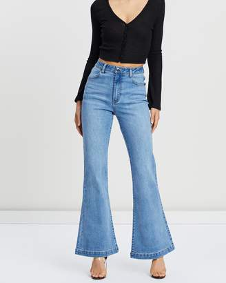 with me. Ride Flared Jeans