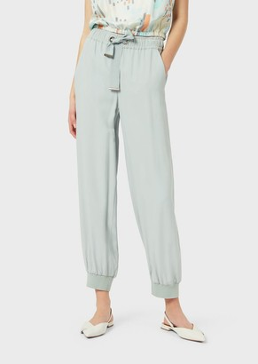 Emporio Armani Cady Drawstring Trousers