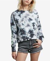 Volcom Juniors' Ozzie Tie-Dyed Alien Graphic Cropped Sweatshirt