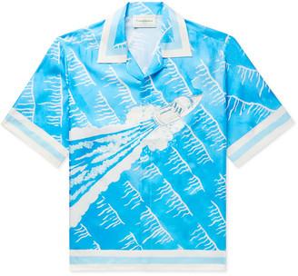 Casablanca - Camp-Collar Printed Silk-Twill Shirt - Men