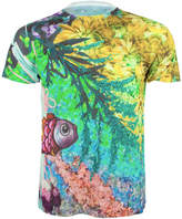 Jenny Collicott Unisex Hyper Real Floral Fish Printed T Shirt Tee