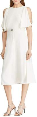 Ralph Lauren Split-Sleeve Belted Dress