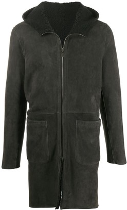 Salvatore Santoro Suede-Effect Hooded Coat