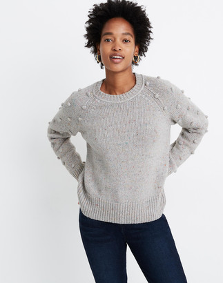 Madewell Palmroy Bobble-Sleeve Pullover Sweater
