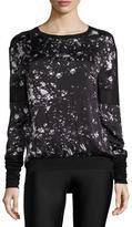 Blanc Noir On Tour Printed Mesh-Panel Sweatshirt