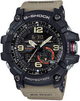 G-Shock Men's Analog-Digital Mudmaster Twin Sensor Khaki Strap Watch 56x55mm GG1000-1A5