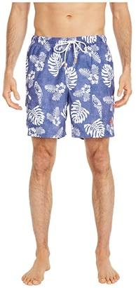 Tommy Bahama Naples Parrot In Paradise Swim Trunks (Island Navy) Men's Swimwear