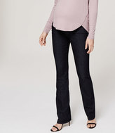 LOFT Maternity Bootcut Jeans in Dark Rinse Wash