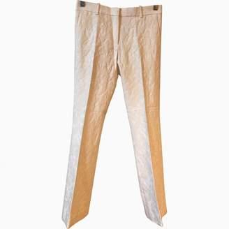 Celine White Wool Trousers