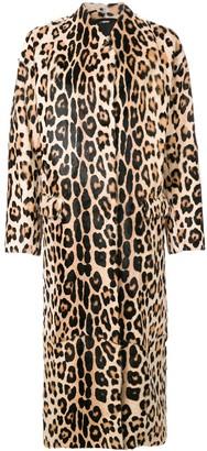 Liska Leopard Print Coat