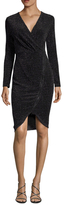 Rachel Roy Jersey Textured Sparkle Sheath Dress