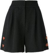 Dolce & Gabbana floral embellished shorts - women - Cotton/Polyamide/Spandex/Elastane - 40