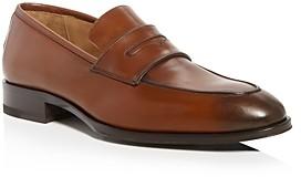 Pastori Men's Titus Leather Apron-Toe Penny Loafers