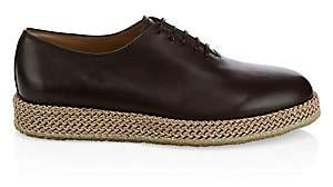 Salvatore Ferragamo Men's Avord Rope Platform Leather Loafers