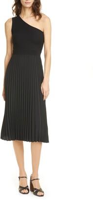 Ted Baker Miriom One-Shoulder Knit Midi Dress