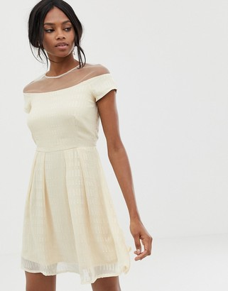 Little Mistress bardot midi dress