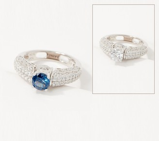 Diamonique Colors of Two-in-One Flip Ring, Sterling Silver