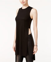 Bar III Ribbed Slit Tunic, Only at Macy's