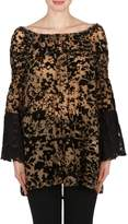 Joseph Ribkoff Burnout Lace Tunic