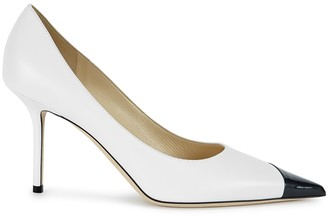Jimmy Choo Love 85 monochrome leather pumps