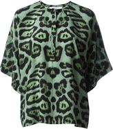 Givenchy leopard print top - women - Silk - 38