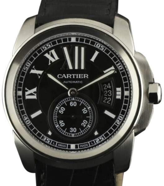 Cartier Calibre W7100041 Stainless Steel & Leather Automatic 42mm Mens Watch