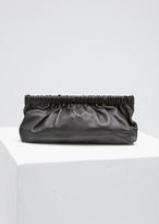 Rachel Comey black leather soo clutch