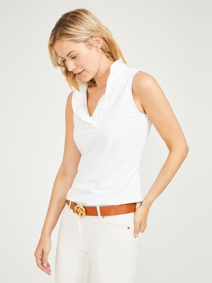 Durham Sleeveless Ruffle Top