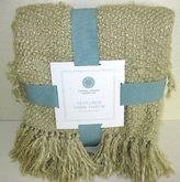 Martha Stewart Textured Yarn Throw Sand Tan