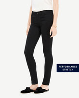 Ann Taylor Petite Modern All Day Skinny Jeans in Jet Black