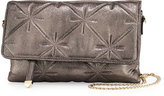 Neiman Marcus Quilted Chain-Strap Crossbody Bag, Pewter
