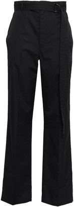 Joseph Bird Belted Cotton-sateen Straight-leg Pants