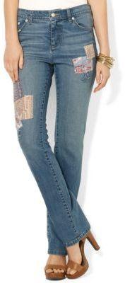 Lauren Ralph Lauren Modern Straight Patchwork Jeans
