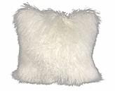 "Everly Dampier Faux Fur Throw Pillow Quinn Color: Orange, Size: 24"" x 24"""