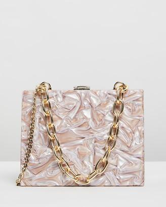 Olga Berg Emily Acrylic Bag with Chunky Handle