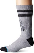 Stance Men's Peaceful Graphic Deer Print Arch Support Classic Crew Sock