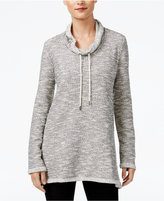 Style&Co. Style & Co. Funnel-Neck Melange Sweatshirt, Only at Macy's