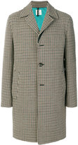 Santoni houndstooth pattern coat