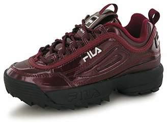 Fila Women's Disruptor M Wmn 1010441-40k Low-Top Sneakers, Red (Burgundy, 4 3.5 UK