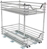Household Essentials Glidez 11 Two-Tier Sliding Cabinet Organizer