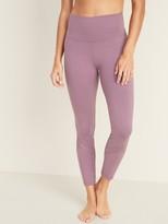 Old Navy High-Waisted Balance Mesh-Trim 7/8-Length Leggings For Women