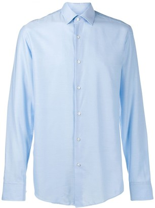 BOSS plain button shirt