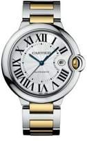 Cartier Ballon Bleu de Automatic Large 18K Yellow Gold & Stainless Steel Bracelet Watch
