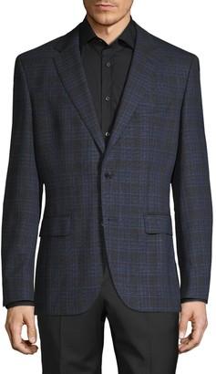 HUGO BOSS Jeen Stretch Wool Plaid Sportcoat