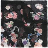 Saint Laurent floral print scarf
