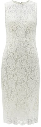 Dolce & Gabbana Sleeveless Cordonetto-lace Midi Dress - White