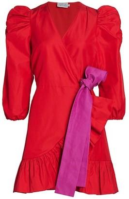 Tanya Taylor Sasha Puff-Sleeve Dress