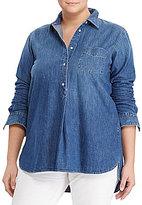Lauren Ralph Lauren Plus Twill Denim Shirt