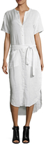 James Perse Linen High Low Shirt Dress