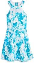 Sally Miller Girls' Abstract Print Halter Dress